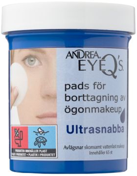Andrea Eye Q's Remover Pads Ultra Quick Sminkborttagning. 65 st