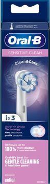 Oral-B Sensitive Clean & Care tandborsthuvud Tandborsthuvud, 3 st