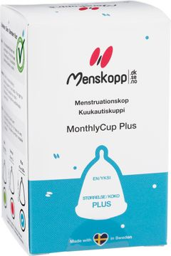 MonthlyCup Menskopp Plus Transparent. Mensskydd. 1 st