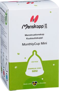MonthlyCup Menskopp Mini Rosa. Mensskydd. 1 st