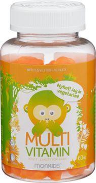Monkids Multivitamin Apelsin 60 tuggtabletter