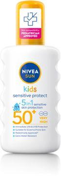 Nivea Kids Sensitive Protect & Play Spray SPF 50+ Solskydd för barn. 200 ml