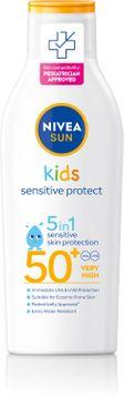 Nivea Kids Sensitive Protect & Play Lotion SPF 50+ Solskydd för barn. 200 ml