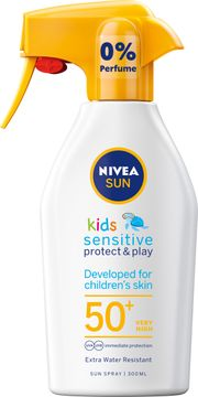 Nivea Kids Sensitive Protect & Play SPF 50+ Solskydd för barn. 300 ml