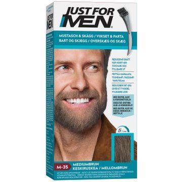 Just For Men Mustasch & Skägg Mediumbrun. 1 st
