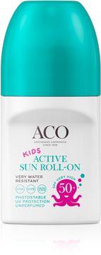 ACO Kids Active Sun Roll-on SPF 50+ Solskydd för barn. 50 ml