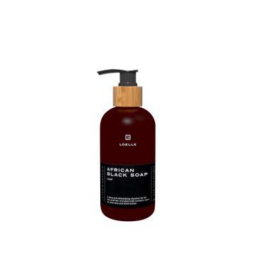 Loelle Black Soap Liquid Tvål kropp och hår, 250 ml