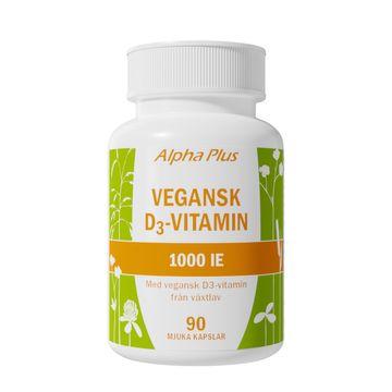 Alpha Plus Vegansk D3-vitamin 1000 iE 90 kapslar