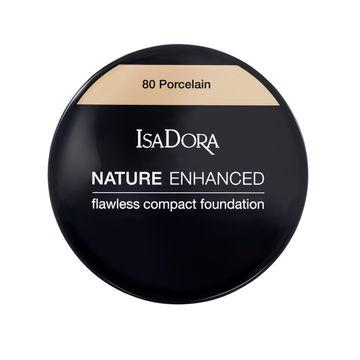 IsaDora Nature Enhanced Flawless Compact Foundation 80 Porcelain Foundation, 10 g