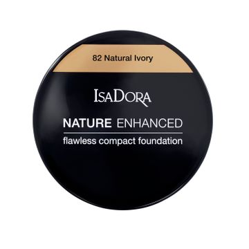 Nature Enhanced Flawless Compact Foundation 82 Natural Ivory Foundation, 10 g