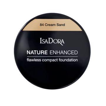 Nature Enhanced Flawless Compact Foundation 84 Cream Sand Foundation, 10 g
