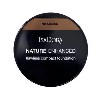 Nature Enhanced Flawless Compact Foundation 90 Mocha Foundation, 10 g