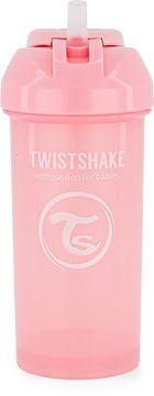 Twistshake Straw Cup Pastellrosa. Sugrörsmugg 6+ mån 360 ml. 1 st
