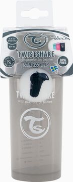 Twistshake Straw Cup Pastellgrå. Sugrörsmugg 6+ mån 360 ml. 1 st