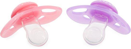 Twistshake Pacifier Pastellrosa/lila. Napp 6+ mån. 2 st
