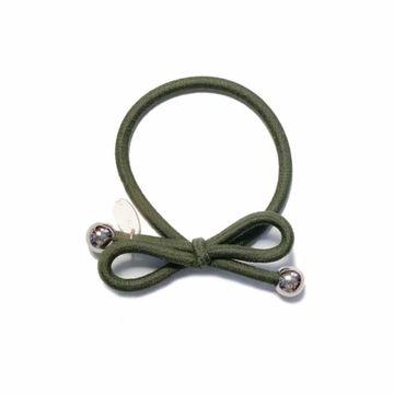 Ia Bon Hair Tie Gold Bead Dark green Hårsnodd. 1st
