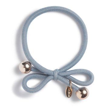 Ia Bon Hair Tie Gold Bead Dusty blue Hårsnodd. 1st