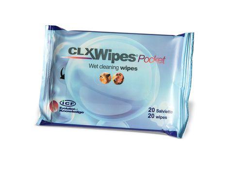 ICF CLX Wipes pocket 20 st Antiseptiska våtservetter för djur. 20 st
