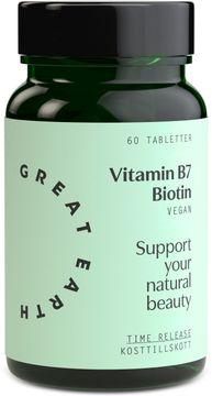 Great Earth Vitamin B7- Biotin 60 tabletter