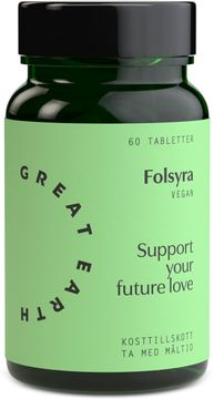 Great Earth Folsyra 60 tabletter