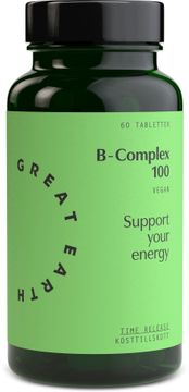 Great Earth B-Complex 100 mg 60 tabletter