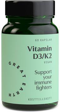 Great Earth Vitamin D3/K2 2000 I.E 60 kapslar