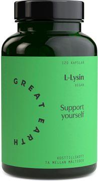 Great Earth L-Lysine 120 kapslar