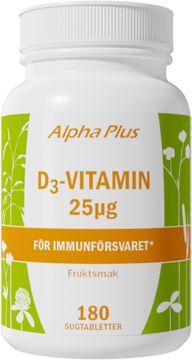 Alpha Plus D3-Vitamin 25 µg 180 tabletter