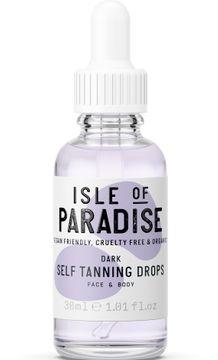Isle of Paradise Dark Self Tanning Drops Brun utan sol, 30 ml