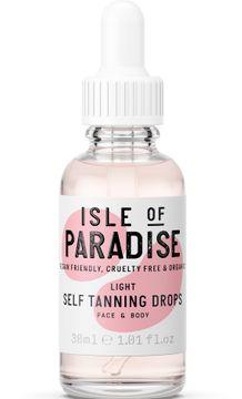 Isle of Paradise Light Self Tanning Drops Brun utan sol, 30 ml