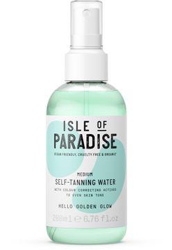 Isle of Paradise Medium Self Tanning Water Brun utan sol, 200 ml