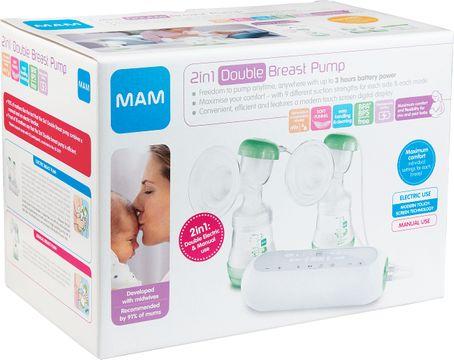 MAM 2in1 Double Breast Pump Bröstpump, 1 st
