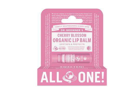 Dr. Bronner's Lip Balm Cherry Blossom Läppbalsam, 4 g