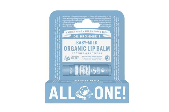 Dr. Bronner's Lip Balm Mild Läppbalsam, 4 g