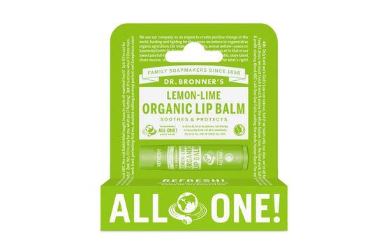 Dr. Bronner's Lip Balm Lemon Läppbalsam, 4 g