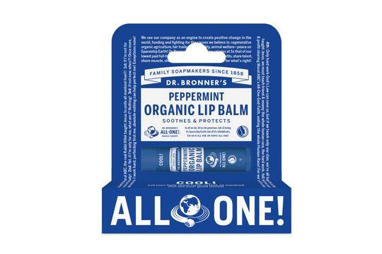 Dr. Bronner's Lip Balm Peppermint Läppbalsam, 4 g