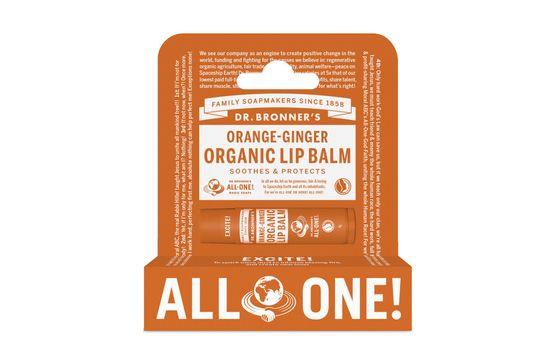 Dr. Bronner's Lip Balm Orange Läppbalsam, 4 g