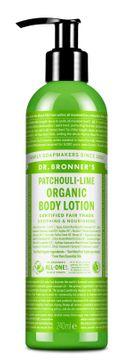 Dr. Bronner's Body Lotion Patchouli Lime Hudkräm, 240 ml