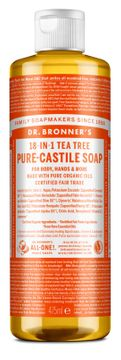 Dr. Bronner's Liquid Soap Tea Tree Duschtvål, 475 ml