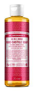 Dr. Bronner's Liquid Soap Rose Duschtvål, 240 ml