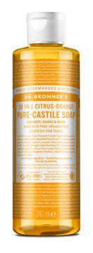 Dr. Bronner's Liquid Soap Citrus & Orange Duschtvål, 240 ml
