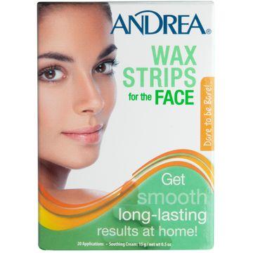 Andrea Wax Strips Face Vaxremsor , 10 st