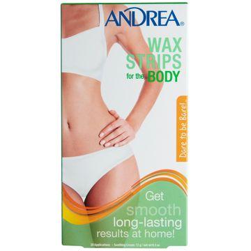 Andrea Wax Strips Body Vaxremsor, 10 st