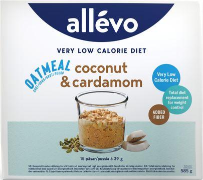 Allévo Oatmeal Coco/Card, VLCD Kostersättning, 15 st