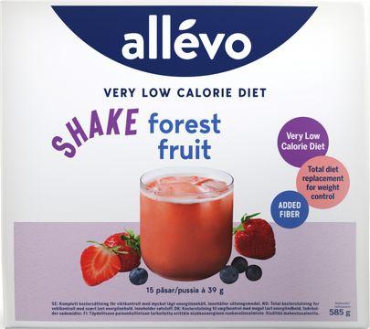 Allévo Shake Forest Fruit, VLCD Kostersättning, 15 st