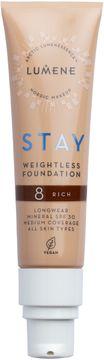 Lumene Stay weightless Foundation 8 Rich Foundation, 30 ml