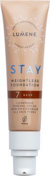 Lumene Stay weightless Foundation 7 Deep Foundation, 30 ml