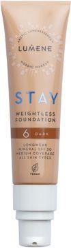 Lumene Stay weightless Foundation 6 Dark Foundation, 30 ml
