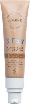 Lumene Stay weightless Foundation 5 Deep Tan Foundation, 30 ml