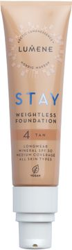 Lumene Stay weightless Foundation 4 Tan Foundation, 30 ml